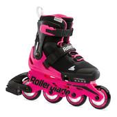 Детские роликовые коньки Rollerblade MICROBLADE G black-neon pink 2021